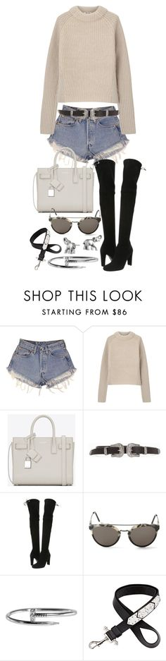 """Untitled #20178"" by florencia95 ❤ liked on Polyvore featuring Levi's, Acne Studios, Yves Saint Laurent, Stuart Weitzman, RetroSuperFuture, Givenchy and Lonna & Lilly"
