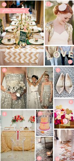 Glitter wedding inspiration #wedding #inspiration #details #glitter #glam