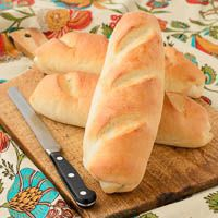 A recipe for Vienna Hoagie Buns that are great for sandwiches. These white buns have a chewy inside and a crisp crust on the outside.