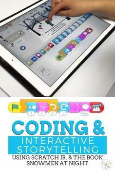 Interactive Storytelling and Coding is part of Interactive Storytelling And Coding Tech With Jen - Teach your students interactive storytelling skills through coding using the Scratch Jr app Great ideas and activities for fun student engagement Computer Lessons, Computer Class, Computer Coding, Computer Science, Computer Teacher, Teaching Technology, Technology Integration, Educational Technology, Technology Lessons