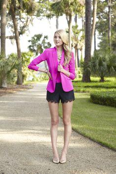Lilly Pulitzer Fall '13- Campbell Blazer, Sunset Top & Hutton Short
