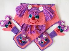 Abby Cadabby(Inspired) Set-Crochet Baby  Hat,Scarf and Mitten  - for Baby or Toddler-Baby Girl Hat,Scarf,gloves-Costume. via Etsy.