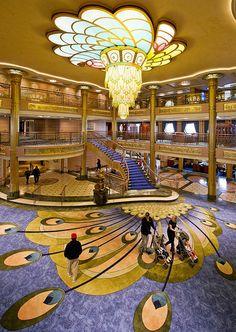 Disney Fantasy Atrium Lobby, Disney Cruise Line.
