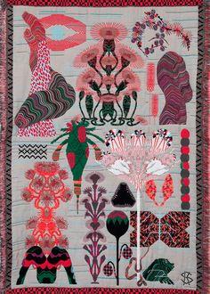 vævet vægtæppe - gerne med farver og mønstre i denne stil..