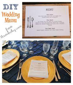 DIY Wedding Menus | {themcbaileys.com}