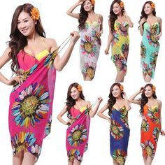 d4944486a9340 All-matched Swimwear Bikini Wrap Chiffon Cover Up Sarong Beach Dress   Unbranded  CoverUp