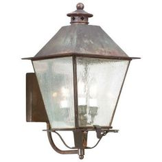 Montgomery Outdoor Wall Sconce (Rust/Clear/Small) - OPEN BOX by Troy Lighting