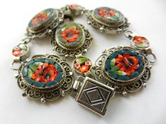 Antique jewelry  1950s italian vintage GM signed  by RAKcreations