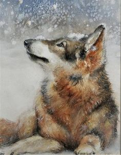 """Its Snowing!"" - Original Fine Art for Sale - © Wendy Starita"
