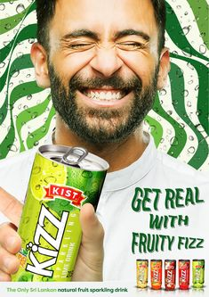 Kizz - Fruity Fizz on Behance Fizz Drinks, Ad Design, My Works, Press Ad, Fruit, Beverages, Behance, The Fruit, Advertising Design