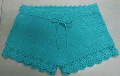 crochet underwear | Ladies Crochet Beach Shorts (R966) - China Cotton Patch,Patch