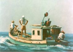 Classic fishermen painting by Al Sprague