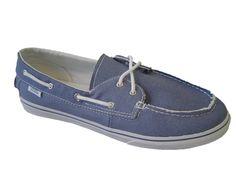 Vans Zapato Lo Pro Brushed Twill Captns Blue Vans Shoes Kids, Mens Vans Shoes, Boat Shoes, Sperrys, Loafers, Blue, Women, Fashion, Zapatos
