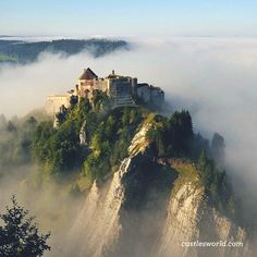 Fort de Joux, France A former castle that was later transformed into a fort, high in the Jura mountains commanding the mountain pass Cluse de Pontarlier.