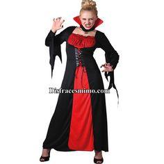 DisfracesMimo, disfraz vampiresa largo adulto para mujer talla m/l.Éste disfraz de Halloween es ideal para celebrar la Fiesta de la Noche de las Brujas cada vez más arraigada en nuestro País en Pub's.Este disfraz es ideal para tus fiestas temáticas de disfraces de vampiros y miedo para mujer adultos.