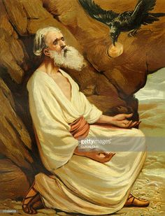 God's ravens feeding Elijah the prophet by the brook Cherith during the drought and famine (Kings 17:6). Illustration by Philip R Morris (1836-1902). (Photo by Culture Club/Getty Images)