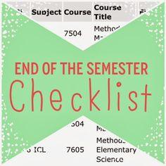 Organized Charm: End of the Semester Checklist