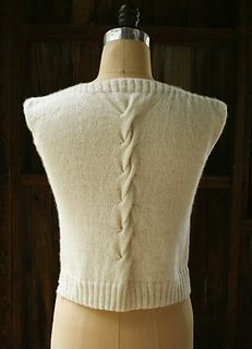 KNitting Pattern Name: Cable Back Shell Free Pattern by Purl Soho