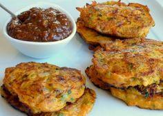 Golden Kumara & Bacon Fritters
