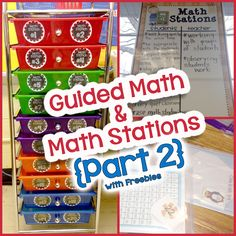 This blog post is Part 2 of my Guided Math and Math Stations post.  Check it out for some fun FREEBIES and resources to get you started with Guided Math!