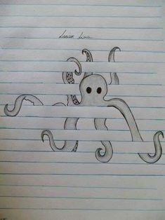 From (Raily Lima) Octopus. From (Raily Lima) wallpaperpinteres Octopus. From (Raily Lima) Octopus. From (Raily Lima) wallpaperpinteres Drawings ✏️ Octopus. From (Raily Lima) Octopus. From (Raily Lima) wallpaperpinteres Drawings ✏️ Cool Art Drawings, Pencil Art Drawings, Art Drawings Sketches, Animal Drawings, Tattoo Drawings, Animal Illustrations, Fun Easy Drawings, Cool Drawings For Kids, Drawings On Lined Paper