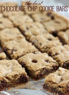 This is my favorite Chocolate Chip Cookie Bar Recipe! It's great for a quick go-to recipe when you need a dish to share.