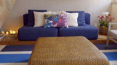 Deck de madeira vira mesinha auxiliar para sofá - Olho Mágico – Reforma de Vizinhos - GNT