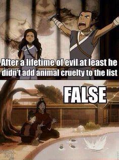 Zuko Anime cruelity.