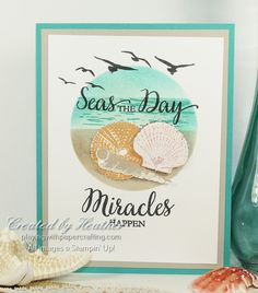 So Many Shells stamp set creates a circle based design for As You See It Challenges #152.
