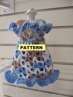 CROCHET PATTERNS  Dishcloth Dresses 2 Styles by CROCHETBYMELISSA, $3.99