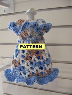 CROCHET PATTERNS  Dishcloth Dresses 2 Styles by CROCHETBYMELISSA, $3.99