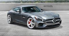Mercedes' Sleek AMG GT S Poses On Five-Spoke Strasse Wheels #Mercedes #Mercedes_AMG