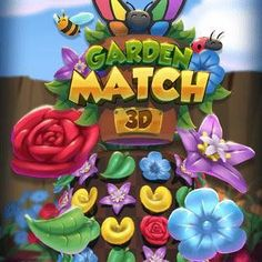 Free Match-3 Browser Game - Play Garden Match 3D, an innovative match 3 game with a 3D floral setting. Games To Play, Mini Games, Match 3 Games, Beautiful Gardens, Free Match, 3d, Create, Birthday, Board Games