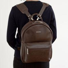 GRAFEA Brown Leather Backpack, Dark Brown Leather, Fashion Backpack, Backpacks, Zipper, Bags, Handbags, Backpack, Zippers