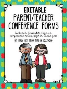 Need to be organized for parent teacher conferences? I've helped make that busy… Parent Teacher Interviews, Parent Teacher Conference Forms, Parent Teacher Meeting, Teacher Signs, Teacher Boards, Be Organized, Organized Teacher, 4th Grade Classroom, Classroom Ideas