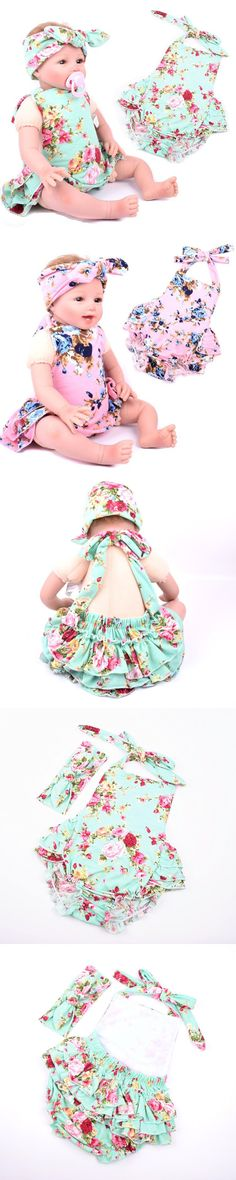 EMS DHL free shipping kids baby girls Floral 2pc Suit Infants Wear Baby Clothing Children Wear Pink Mint with Headbands $62
