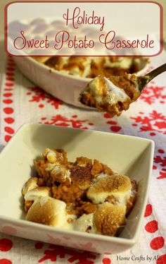 Holiday Sweet Potato Casserole. We love the subtle mixture of sweetness and spice.