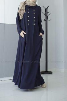 ALLDAY LACİVERT FERACE - 60154 review model ... - 2019 Hijab Clothing Islamic Fashion, Muslim Fashion, Modest Fashion, Girl Fashion, Fashion 2020, Fashion Dresses, Hijab Style Dress, Hijab Chic, Abaya Style