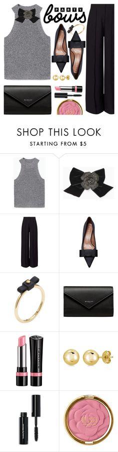 """Party Bows"" by ivansyd on Polyvore featuring MANGO, Kate Spade, Miss Selfridge, Marni, Marc by Marc Jacobs, Balenciaga, Rimmel, BERRICLE, Bobbi Brown Cosmetics and bows"