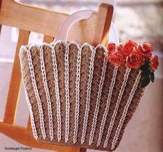 Crocheted handbags for women, free crochet patterns ~ Craft , handmade blog