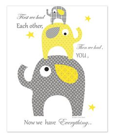 Take a look at this Gray 'Then We Had You' Print by Ellen Crimi-Trent on #zulily today!