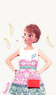 disney real frozen anna 可愛い!ディズニーキャラクター達が現代のファッションだったらという画像37枚