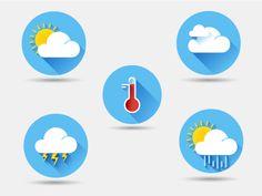 Flat weather icons by Sergey Lagutin