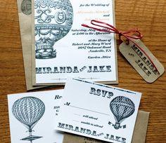 Vintage inspired invitation