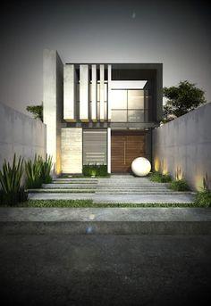 67 mejores im genes de fachadas de casas peque as en 2019 for Casa tipo minimalista