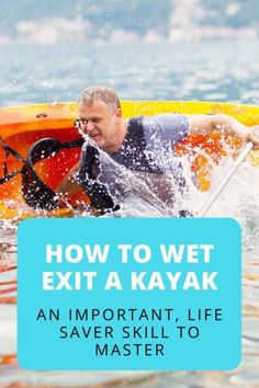 How to wet exit a kayak? When it comes to exiting a kayak, a dry exit is always preferable. However, sometimes circumstances are such that you have no choice but to do a wet exit. #kayakingskills #kayakingtips #watersports #adventuretravel Canoe Camping, Canoe Trip, Canoe And Kayak, Camping World, Kayak Fishing, Camping List, Kayaking Near Me, Kayaking With Dogs, Kayaking Tips