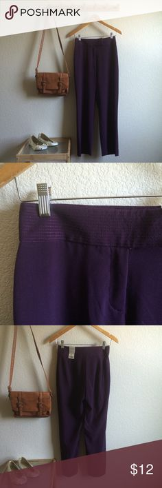 "Purple Slacks NWT Length 28"" Waist flat 13"" 62% polyester/33% rayon/5% spandex Worthington Pants Trousers"