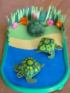 A Patchwork Life: egg box craft Egg Crafts, Diy And Crafts, Crafts For Kids, Arts And Crafts, Paper Crafts, Egg Box Craft, Turtle Crafts, Valentine Box, Tortoises