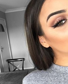 Discover these natural eye makeup tutorial Image# 1567 Eye Makeup Steps, Simple Eye Makeup, Natural Eye Makeup, Blue Eye Makeup, Makeup For Brown Eyes, Makeup Tips, Beauty Makeup, Hair Makeup, Hair Beauty