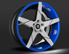 If the blue Ford F100 pickup were mine I would install this - LEXANI INVICTUS-Z custom - blue & grey finish
